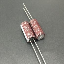Discount nippon - 10pcs 470uF 25V NIPPON NCC KY Series 8x20mm Low impedance ESR Long Life 25V470uF Aluminum Electrolytic Capacitor
