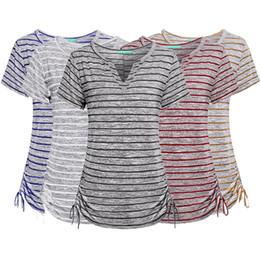 f136e224193 XXl girl s shirts tops online shopping - 5 Colors Women Girls Causal Stripe  V neck
