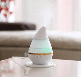 Wholesale nebulizer online shopping - new type household humidifier atomization mini aroma machine Color change USB drip shape humidifier car nebulizer Aromatherapy h