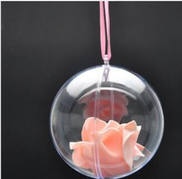 Clear Balls Australia - 80mm Transparent Clear Plastic Opening Gift Candy Box Fillable Ball Baubles Decor Wedding Christmas Tree Decoration Party Supplies lin4439