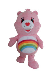 Discount pink bear mascot costume - 2018 Factory sale hot pink bear mascot costume Adult Size Character pink bear Costumes for Fancy Dress Party Clothing