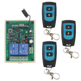 Discount remote control momentary switch 12v - DC 12V 24V 2 CH 2CH RF Wireless Remote Control Switch System,Waterproof Transmitter + Receiver,315 433 MHz,Momentary