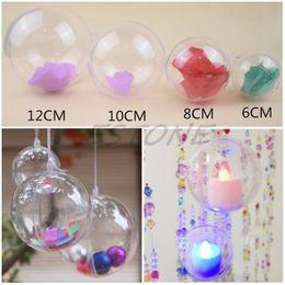 Clear Balls Australia - Christmas Tree Decor Ornament Ball Type Box Clear Transparent Plastic Craft