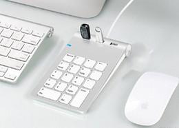 $enCountryForm.capitalKeyWord Australia - USB 3.0 Mimi keypad hub USB Numeric Keypad with 3 USB hub combo 18 Keys Aluminum mini keypad for macbook ipad Laptop