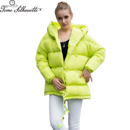 fe39ae3cf7a3a 2017 Winter Coat Women Irregular Loose Fit Bread Snow Hooded Thick Warm Parkas  90% White Duck Down Jacket Coat L410 S18101306