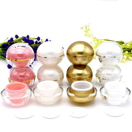 ball shaped bottles 2019 - 10ML Refillable Acrylic Cosmetic Bottles With Screw Lid and PP Liner Ball Shape Travel Jar Pot Makeup Face Cream Eye Cre