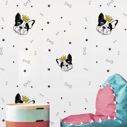 $enCountryForm.capitalKeyWord NZ - YQT075 Personalized Funny Creative Cartoon Dog head Bone DIY Wall Sticker Wallpaper Waterproof Removable Vinyl Decal Living Room Home Decor