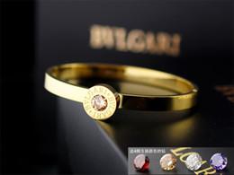 $enCountryForm.capitalKeyWord Australia - Quality Celebrity design Metal Buckle diamond bracelet Metal Clover Cuff bracelet Woman Jewelry With Box