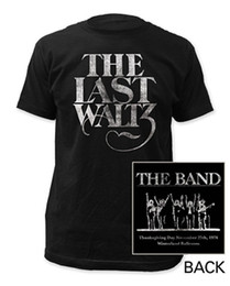 China T Shirt Hot Sale Clothes O-Neck Short The Band The Last Waltz Double Sided Design T Shirts For Men suppliers