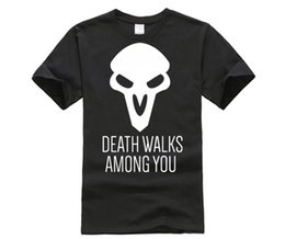 $enCountryForm.capitalKeyWord Canada - customised T-shirt The Reaper Death Walking Among You Men T-Shirts Cool Design Printed 100% 180g Combed Cotton Tees
