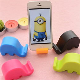 Red tablets online shopping - Universal Portable Elephant Phone Holder Mobile Cell Phone Stents Stand For Iphone Samsung Samrt Phones Tablet