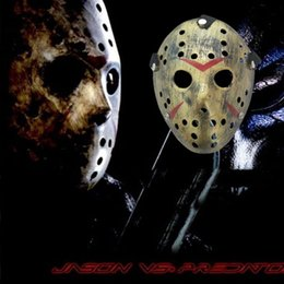 Pvc Plastic Full Face Masks Australia - Full Face mask cosplay masks mini masquerade masks black for mens Freddy VS 13th Prop Horror Hockey Jason Mask anonymous adult plastic mask