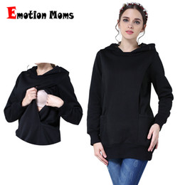 65e675e94f6e9 Emotion Moms Thickening Maternity clothes Breastfeeding Tops for Pregnant  Women Pregnancy Clothing Maternity Hoodies Sweater