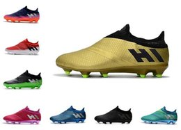 Discount messi 16 pureagility boots 2018 New Cool Mens Messi 16+ Pureagility FG AG Football Shoes Male Soccer Shoes Cristiano Ronaldo Men Soccer Cleats Spor