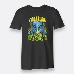 Wholesale The Black Lagoon Creature From Monster Horror Men s Tees S XL Black T shirt t Shirt Men Man s Best Deals Custom Short Sleeve Big Size Famil