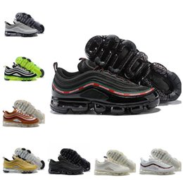 c105dfbc614e 2018 vapormax 97 OG Undftd Black Green Gold Silver Bullet Shoes 97s Men  women ultra sean wotherspoon Undftd undefeated aIrs Casual Sneakers