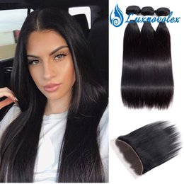 $enCountryForm.capitalKeyWord Australia - Peruvian Virgin Hair Bundles With Lace Frontal Closure Unprocessed Human Hair Weave 3 Bundles With Closure Remy Hair Weave Natural Color