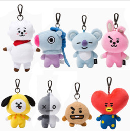 woman plush toy boy NZ - Wholesales Fashion Collection Kpop BTS BT21 Plush Keychain Doll Keyring CHIMMY COOKY MANG KOYA Stuff Soft Toy