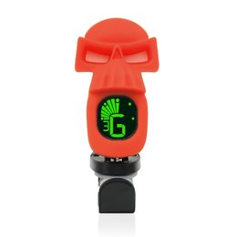 Discount display tuner - Acoustic Guitar Tuner Unique Cool Skull Clip-On Tuner LCD Display for Chromatic Bass Ukulele Violin Guitar Parts & Acces