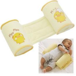 Cartoon Memory NZ - High-quality Wholesale Cute Cartoon Cotton Baby Anti Roll Pillow Massager Infant And Newborn Nursing Pillows Bedding For Kids