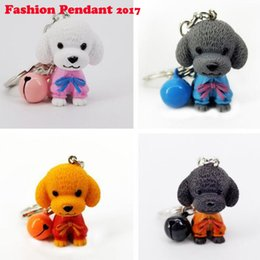 Dog Cars Australia - NEW Lovely 3D dog Pet Key Chain Women Luxury Car Keychain Teddy Dog Key Rings Gifts For Best Friend Resin Key Ring Holder