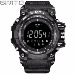 smart electronic watch NZ - X GIMTO Cool Black Sport Smart Watch Digital Military Silicone Waterproof LED Shock electronic wrist watches Pedometer Smartwatch