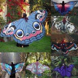 NewNew Coming Lovely Femmes Lady Longue Aile de Papillon Cape Écharpe Doux Écharpes Wrap Châle Costume Nymphe en mousseline de soie xales e ponchos en Solde