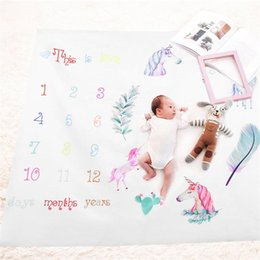 Child growth online shopping - Photography Prop Blanket Newborn Children Photograph Rug Growth Record Print Playmats For Girls Boys Fashion Mileage Carpets fdb ff