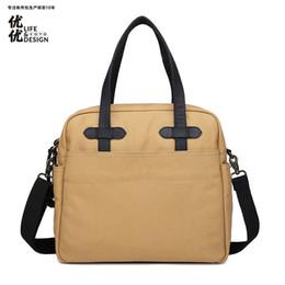 Discount men office bags - Vintage Men's Canvas Shoulder Bags with Strap Men Office Bag Briefcase Crazy Leather Laptop Mrs Male Business Casua