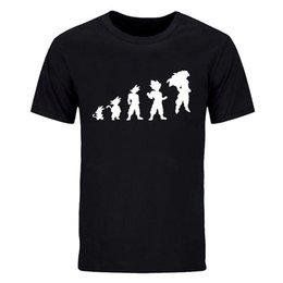 $enCountryForm.capitalKeyWord Australia - New Arrival summer Fashion Evolution Human printed T Shirts Yoda Goku O Neck Short Sleeve t shirt Man Funny casual tops Tees DIY-0776D