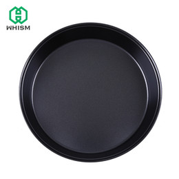 Pans Australia - 8 inch Round Bake Pizza Pan Non Stick Round Carbon Steel Baking Tray Cake Chess Mold Loaf Roaster Microwave Pie Tray Bakeware