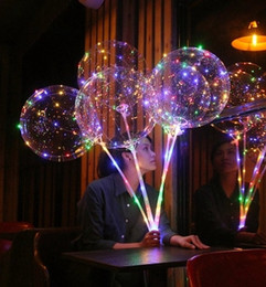 Smooth Edged LED Balloon Luminous Latex Balloons Wedding Room Birthday  Party Decoration Toys For Kids With 70cm Stick
