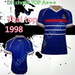b191e1870b4 Thai top Wholesale 1998 FRANCE retro soccer jerseys home top thai A+++  customzied name number zidane Henry soccer uniforms football shirts