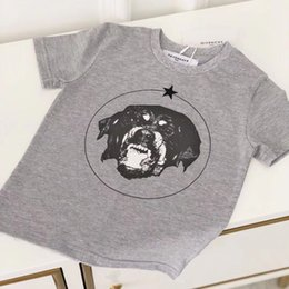 Wholesale new fashion shirts for boys online – design 2018 New Cartoon Dog Printing T shirt For Boy Girls Short Sleeves Cotton T Shirt Children Summer Tee Tops Clothes GL001