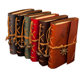 leather business planner NZ - Vintage Diary Notebook Pirate Anchor Decor Traveler's Note Books Notepad Planner PU Leather Cover Blank Notebooks