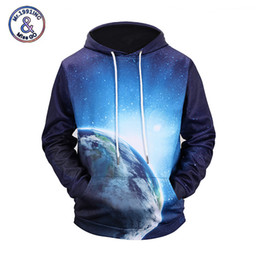Galaxy Sweatshirt Brand NZ - Mr.1991INC New Galaxy 3D Print Hoodies Fashion Pocket Sweatshirt Earth Harajuku Hooded Moletom Men Women Brand Tops