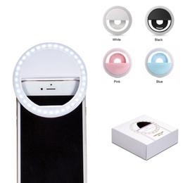 Luz LED universal Selfie Light Ring Light Light Flash Lámpara Selfie Ring Lighting Fotografía de cámara para Iphone Samsung con paquete al por menor