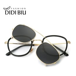 92972a412a DIDI Hip Hop Steampunk Clip On Sunglasses Women Men Fit Over Double Lens Sun  Glasses Prescription Frames Glasses With Case U814 D18102305