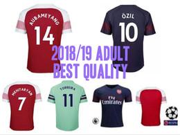 c7f6105015a 18 19 Arsenal Gunners OZIL ALEXIS AUBAMEYANG soccer jersey 2018 WILSHERE  GIROUD LACAZETTE CHAMBERS XHAKA home away football shirt