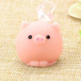 Schweinchen Squishy Langsam steigende Kawaii Mini Mochi Bunny Phone Strap Squeeze Stretchy niedliche Spielzeug Geschenk Hand Griffe Muscle Power Training