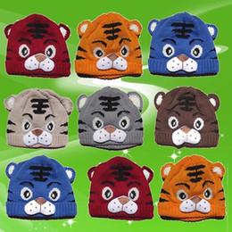 $enCountryForm.capitalKeyWord Australia - new 1pcs Baby Girls Boys Kids Toddlers Crochet Knit Cute Tiger Hat Cap Beanie Bonnet Warm Winter Kids Knitted Beanies