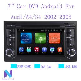 Vente en gros Android 7.1.2 système stéréo de GPS de lecteur multimédia de voiture de din de din de 2 din pour Audi / A4 / S4 2002-2008 2GB RAM DSP DVR OBD2 RDS