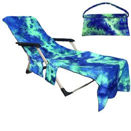 Discount beach chairs - Swimming Towels Lounger Mate Beach Towel Single layer Tie-dye Sunbath Lounger Bed Holiday Garden Beach Chair Cover Towel