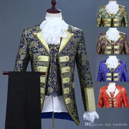 $enCountryForm.capitalKeyWord Australia - 18th Century European court Men's Three-Piece Suits Nightclub Floral Embroidery Performance Jacket Costume (Jacket+Pants+Vest)