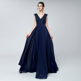 2549a203a99 Real photos Navy blue Beaded Maternity Evening Dresses 2018 For Pregnant  Women Formal Party Prom Gowns Empire Beads Crystal Red Carpet Dress