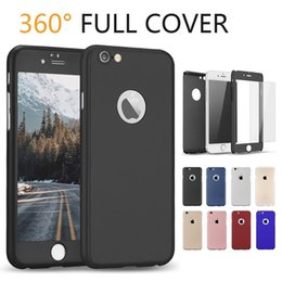 $enCountryForm.capitalKeyWord Canada - 360 Degree Full Body Protective Cases Ultra-Thin Cover Case For Apple IPhone X 8 7 6 Hard PC Case With Tempered Glass OPP Bag
