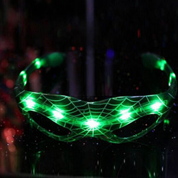 Discount cool new toys for kids - New Year For Spider Man Style Baby Kids Christmas Gifts Luminous Glasses Toys 9 Led Luminous Cool Flashing Light Up Toy