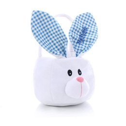 Easter baskets wholesale dhgate uk diy jute easter basket with embroidery lattice bunny ears cute red blue rabbit ears bag funny handbags rabbit ears put easter eggs negle Images