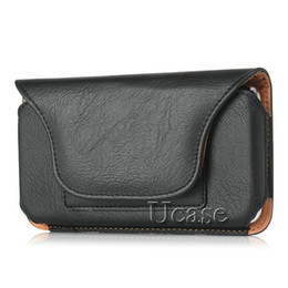 Leather snap beLt online shopping - Luxury Horizontal Holster Leather Case For Iphone Plus s inch Pouch Snap Closure With Belt Clip Card Slots For S6 Edge