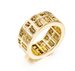 AbAcus chArms online shopping - Luxury Fashion Men Women Abacus Ring Maths Number Jewelry Gold Silver Titanium Stainless Steel Charm Wedding Finger Rings Gifts